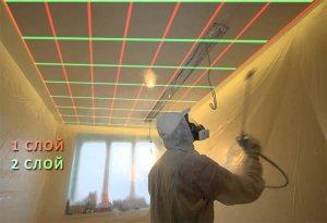 Направление движений краскопульта при покраске в несколько слоев. 3-й слой, как первый - вдоль.
