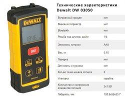 Стандартные технические характеристики лазерного дальномера