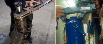 Способы откручивания верхней гайки бутылочного подъемника