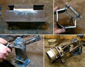 Короб для крепкой фиксации мотора на домкрате