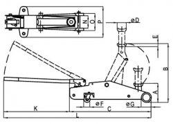 Схема устройства подкатного домкрата