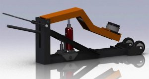 Трехмерная модель самодельного подкатного подъемника на базе бутылочного