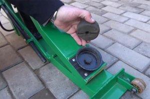 Принцип установки упора с резиновым адаптером