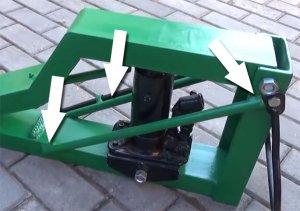 Усиление конструкции сваркой с металлическими прутами