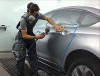 Пневматический краскопульт используется для создания максимально равномерного слоя краски