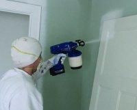 Намерение лакокрасочного покрытия электрическим краскопультом