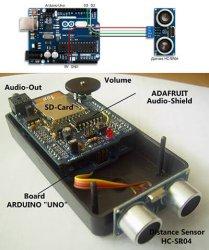 Ультразвуковой дальномер на базе arduino